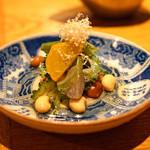 高太郎 - お通し 大豆とゴーヤとズッキーニのおひたし