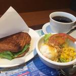 カフェ・ド・クリエ プラス - 料理写真:モーニングBセット570円