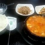 とんとり - ランチ『純豆腐チゲ』¥750-