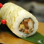 レストラン しん愛 - 七種類の海、山の食材を使用し、おぼろ昆布で巻き上げてあります!