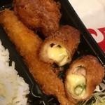 新宿とんかつ さぼてん - 揚げ物類が豊富に入ってますよ!