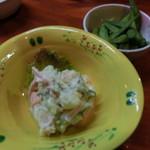 69359457 - ポテトサラダ&枝豆(お通し)