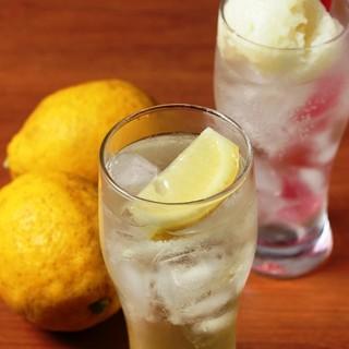 宝韶寿レモンを使った自家製ドリンク