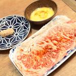 恵比寿焼肉寿司 別邸 - スキヤキ