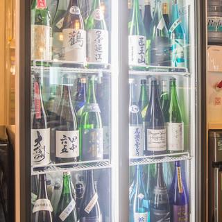◆日本酒全種飲み放題◆あのレア日本酒が冷蔵庫の中に!?