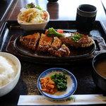 レストラン松新 - とんかつと和風ハンバーグ定食