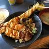 やきとり 助六 - 料理写真:穴子・イカ天丼850円