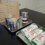 ○京 - (2017/5月)サバ寿司がテーブル備え付け