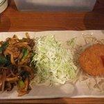 かみ村 - 牛肉トマトソース焼&野菜コロッケ