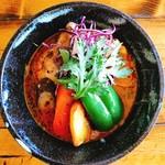 スープカリー 藍色 - 料理写真:空色(ほろほろチキン)