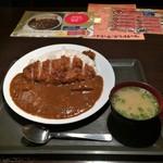 海鮮居酒屋 はなの舞 久米川南口店 - ロースカツカレー大盛り。