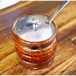 麺工房 武 - 自家製ラー油…唐辛子?これ美味しいです。