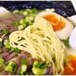 麺工房 武 - ムニっとした食感の細麺。