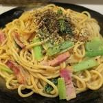 ロメスパバルボア - 具は小松菜、ベーコン、玉ネギ