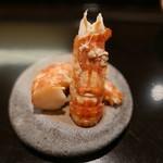 鮨みなと - 料理写真:北海しまえびの燻製