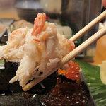 神田江戸ッ子寿司 - カニ てんこ盛り