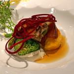 ラ・ビュット・ボワゼ - 蝦夷鮑の冷静オードヴル 牧島さんの野菜