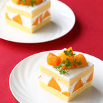 ラウンジ - マンゴーのショートケーキ