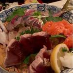 わさびと魚 - 刺身3種盛り