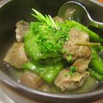 69396217 - 万願寺唐辛子と砂肝の蒸し煮