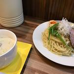 麺や まろみ - 限定 鶏ポタ塩つけ麺 大盛 ¥950