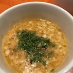 麺屋 六感堂 - 海老白湯つけ蕎麦