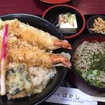 そば処はやし  - 料理写真:天丼セット1000円(2017.05)