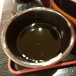 信州蕎麦の草笛 - 【2017.7.01(土)】ランチセット(ざるそば+かき揚げ)1,000円の麺つゆ