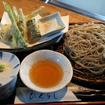 69402219 - 旬野菜天ざる蕎麦1200円