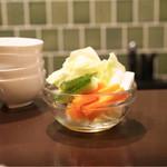 アヒル - 付出しの野菜
