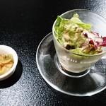 花琳 - セットのサラダ、ザーサイ