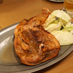 うどん酒場 香川一福 - 骨付き鶏 モモ焼き 特大