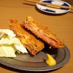 うどん酒場 香川一福 - ミルフィーユ ハミカツ チーズイン