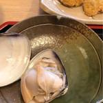 はまぐり食道 - すっごく大きな焼きハマグリ。プリップリッでした