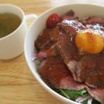 カフェ アンレーヴ - ローストビーフ丼セット