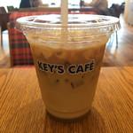 キーズ・カフェ - アイスカフェラテは、¥300ですよ