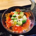 CHA-salon SAKURA-MOMIJI - トマトとアボカドの寒天ゼリー茶漬け