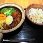 黒猫夜 銀座店 - 豚角煮土鍋ごはん@1000円(税込み)