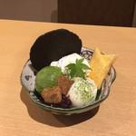 CHA-salon SAKURA-MOMIJI - SAKURA-MOMIJIパフェ(抹茶/ほうじ茶)