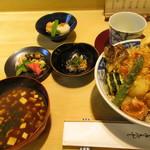 茂竹 - かき揚げ天丼セット ¥2,300