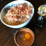 そばまさ - 料理写真:おかかご飯 うずらの卵付き