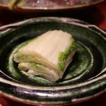 魚匠 銀平 - 白菜の漬物アップ