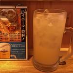 博多うどん×すだち餃子 大衆酒場博多どんたく - どでかサワー!(1リッター)(グレープフルーツ)