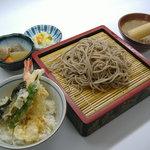 食いしんぼアイワ - 極上ザルそばミニ天丼セット  980円