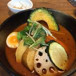奥芝商店 - 大地の恵み野菜。  エビスープはエビの風味が一口目にフワッと感じられます!