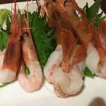 『千住の海老料理専門店』Shrimp Dining EBIZO 北千住 - 甘海老と赤海老のお刺身●プリプリまったり濃厚!えび味噌も入ったまま!♡