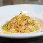 リストリア ラディーチェ - 料理写真:帆立とアスパラのペペロンチーノ スパゲッティ