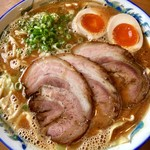 味富ラーメン - 味噌チャーシューメン(大)950+煮玉子80