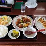 餃子の王将 - 酢豚定食+餃子