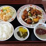 餃子の王将 - 酢豚定食